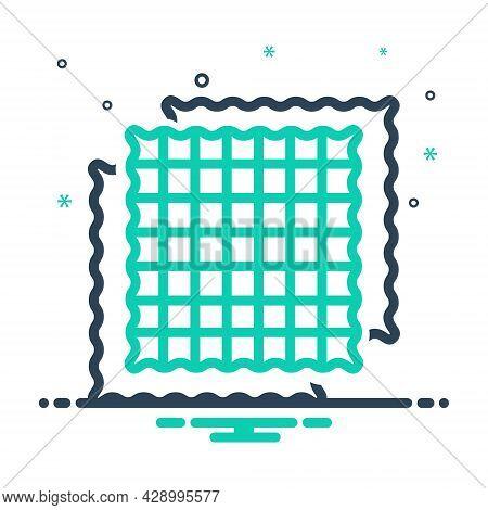 Mix Icon For Fabric Cloth Textile Cloths Weft Raiment Costume Attire Texture Structure