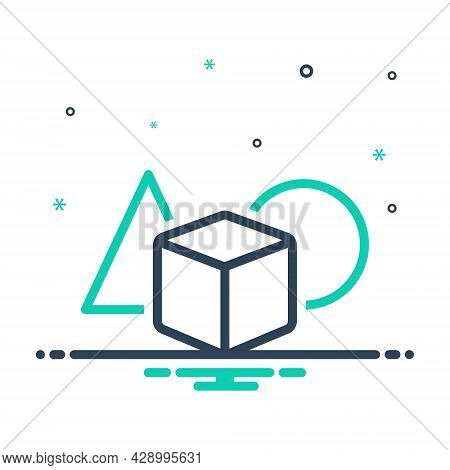 Mix Icon For Object Commodity Item Thing Shape Mathematical Substance Material Matter Stuff