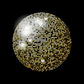 Glitter ball design in eps10 format. Transparencies used in screen mode. poster