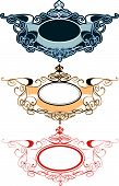 Decorative Ornament Labels Set (editable vector illustration) poster