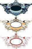 Decorative Ornament Labels Set (editable vector illustration) poster