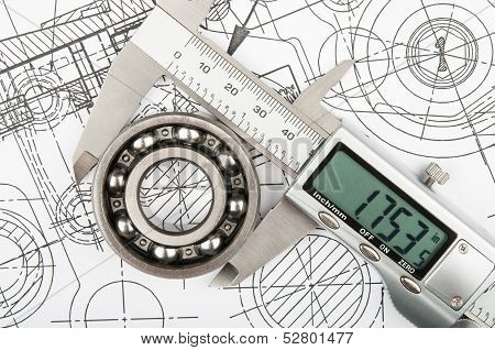 Measurement Of Diameter Of The Bearing