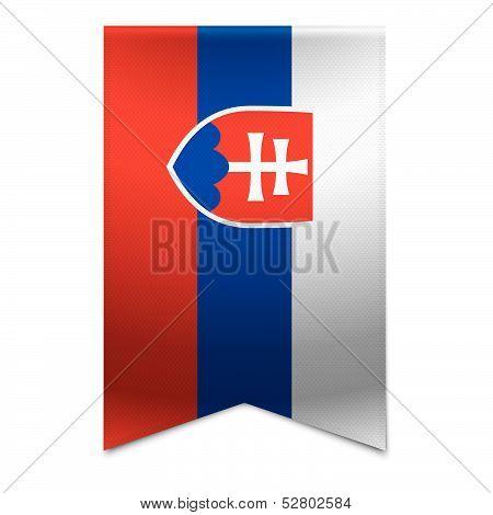 Ribbon Banner - Slovakian Flag