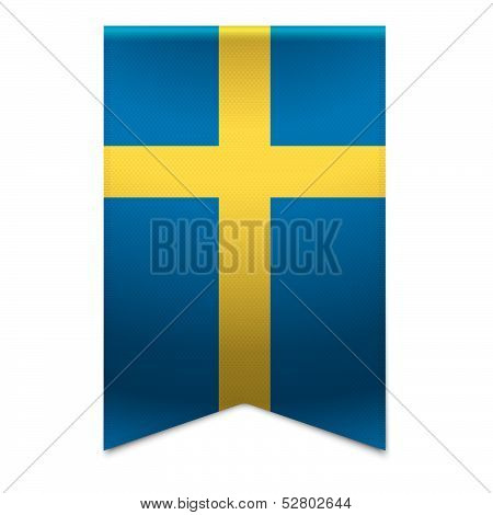 Ribbon Banner - Swedish Flag