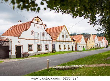 HOLASOVICE, CZECH REPUBLIC - AUGUST 11: village Holasovice, UNESCO World Heritage Site.