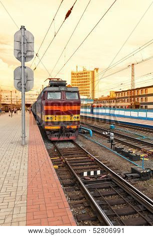 Nizhny Novgorod, Russia - August 27: Platforms In Moskovsky Rail Terminal On August 27, 2012 In Nizh