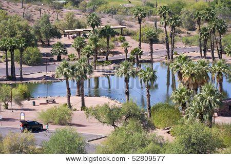 A Papago Park Scene In Phoenix, Arizona