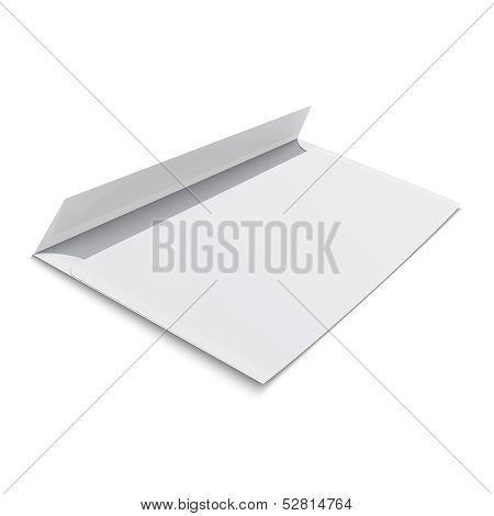 Blank envelope on white background.