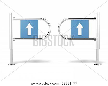 entrance sign in a mart isolated on a white background. 3d render poster