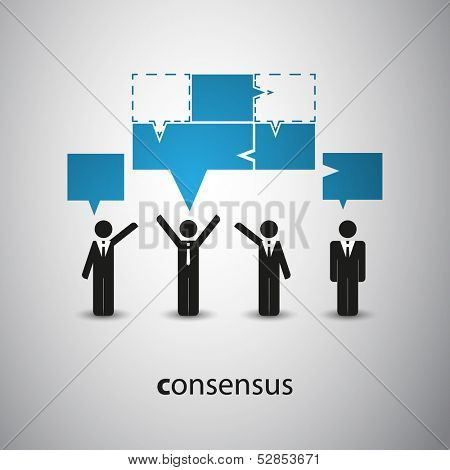 Consensus - Speech Bubble Concept