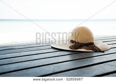 Sun Hat On Decking
