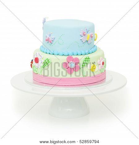 Beautiful Garden Themed Birthday Cake
