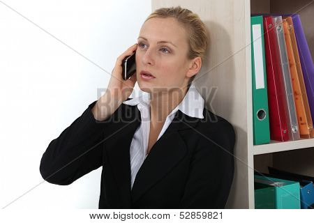 Professional talking on her phone