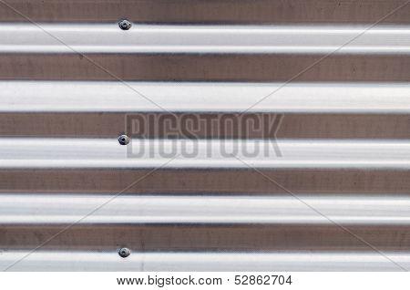 Silver Corrugated Sheet Metal