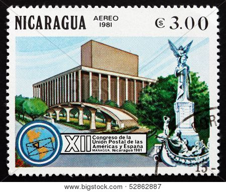 Postage Stamp Nicaragua 1981 Headquarters, Managua