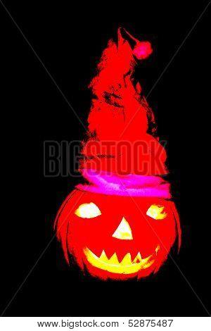 Halloween Pumpkin Santa Claus