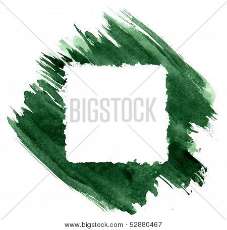 Painted Brush Strokes Frame
