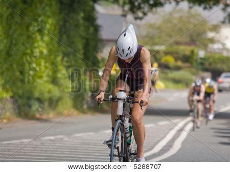 Woman Athlete In Triathlon