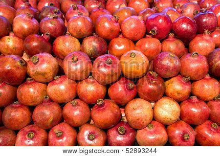 Pomegranates In Food Store