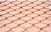 pattern of  clay tiles roof seamless for background poster