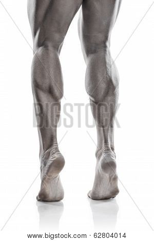 Strong Athletic Man Fitness Model Torso Showing Naked Muscular  Legs (iron Colored)