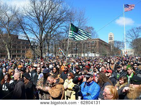 Ann Arbor Hash Bash 2014 Crowd