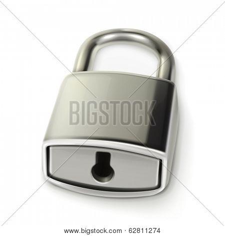 Metal lock, vector illustration