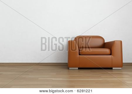 Armchair on a Blank Wall