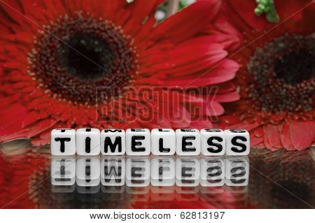Timeless Text Message With Red Flowers