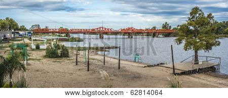 Bridge Over Gualeguaychu River, Argentina.