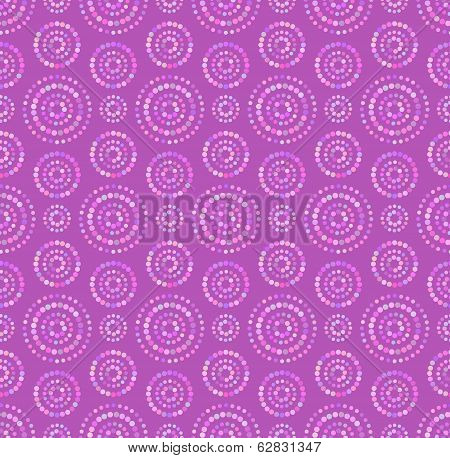 Dots circles seamless pattern in shades of lilac color poster