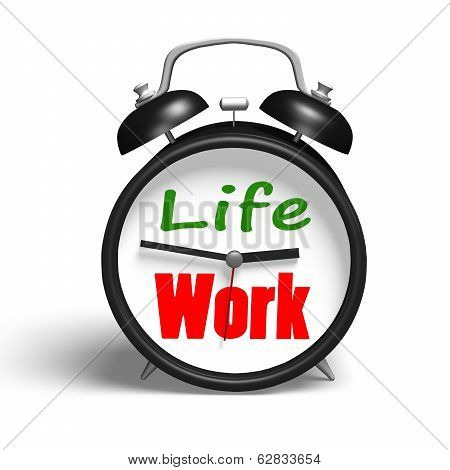 Alarm Clock With Life And Work Face