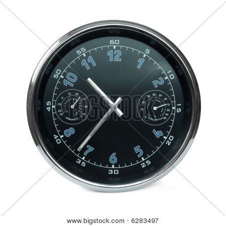 Wall Clock With Hydrometer And Thermometer