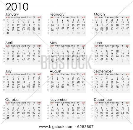 Simple calendar