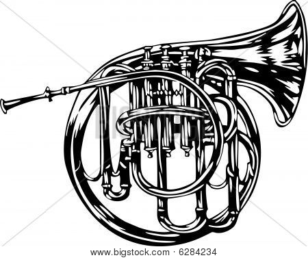 French Horn illustraion