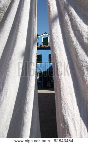 White Wash In Burano Island, Venice