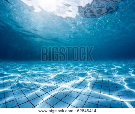 Underwater shot of the swimming pool