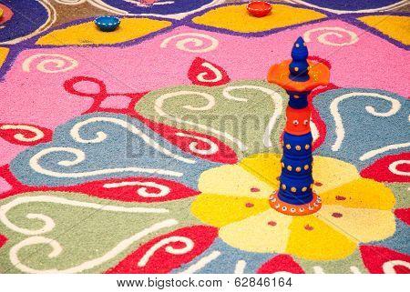 Colorful Indian Kolam