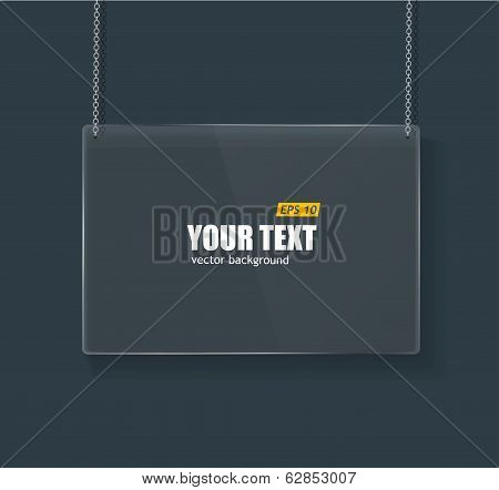 Vector Glass framework on dark background