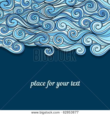 Blue Waves invitation template