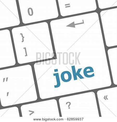 Computer Keyboard Keys With Joke