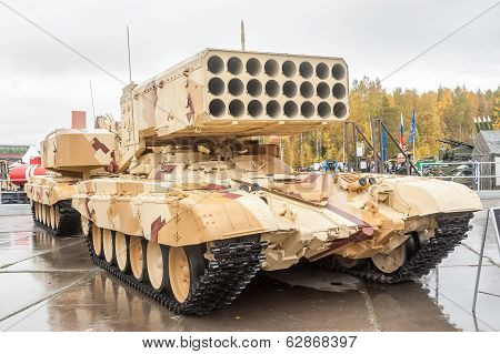 Heavy fire-throwing TOS-1A system. Russia