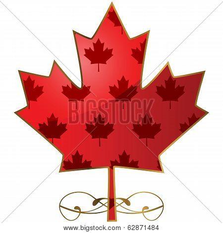 Fancy Maple Leaf