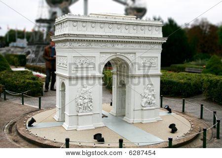 Paris Triumph Arc In Mini Europe Park