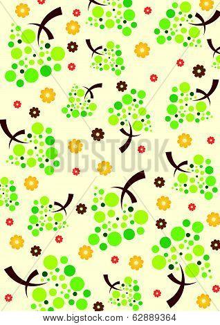 Plant pattern wallpaper