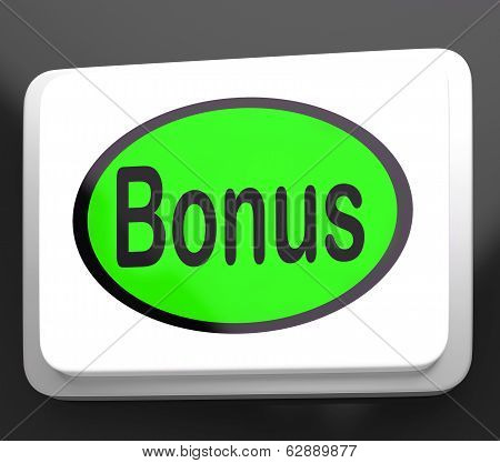 Bonus Button Shows Extra Gift Or Gratuity Online