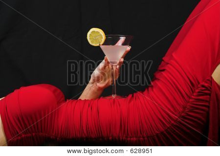 Red Dress And Cocktail