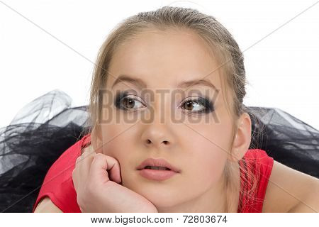 Photo of dreaming young girl