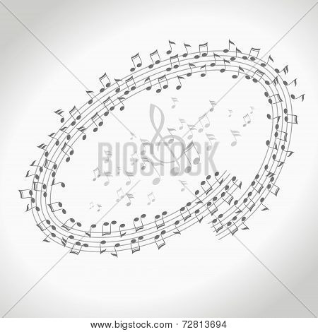 Vector design element Music notes concept illustration
