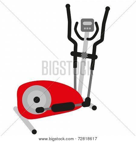Red Elliptical Cross Trainer